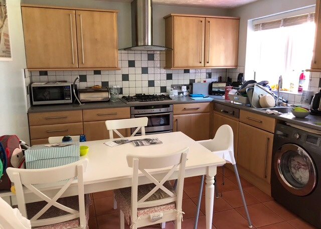 renovating a 90s house kitchen before