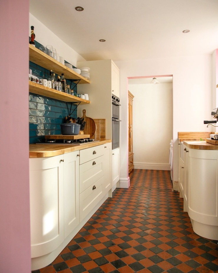 A full picture of our narrow galley style kitchen