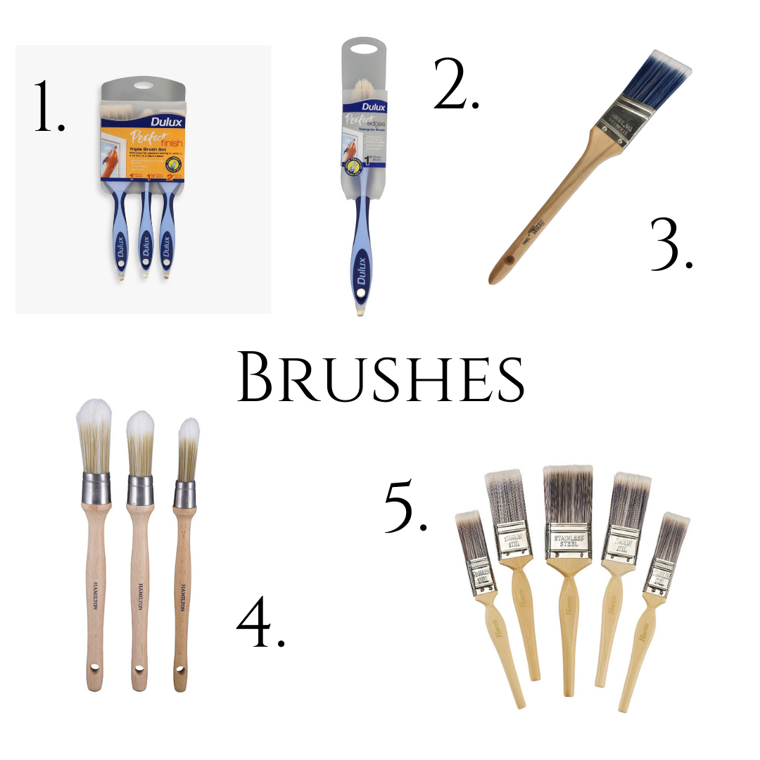 10 Painting Tips for Beginners (Pictures of five different types of brushes to use that are also linked in the body of the text)
