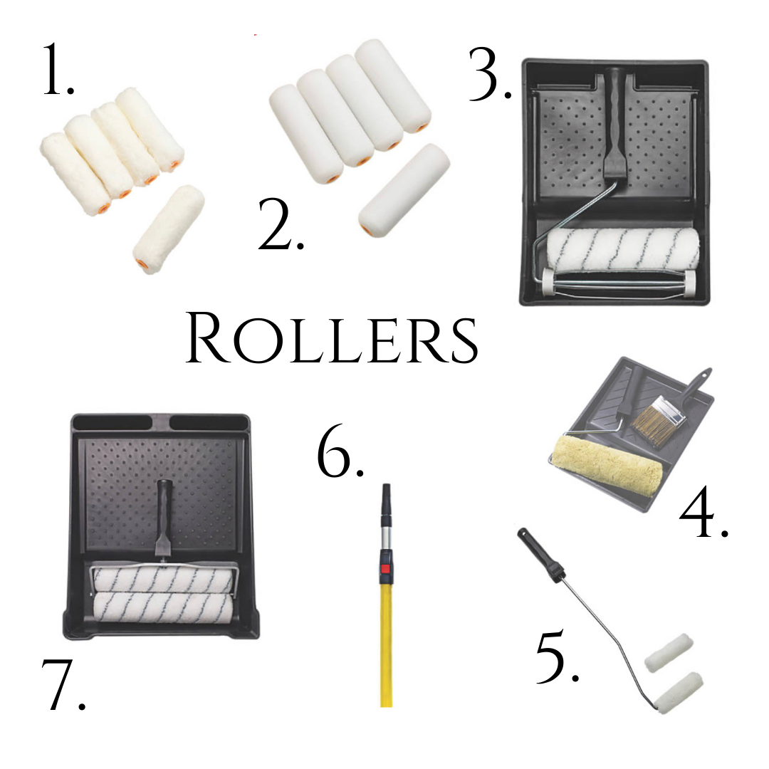 10 Painting Tips for Beginners (7 recommended rollers, roller poles and mini rollers - all linked in the body of the text)