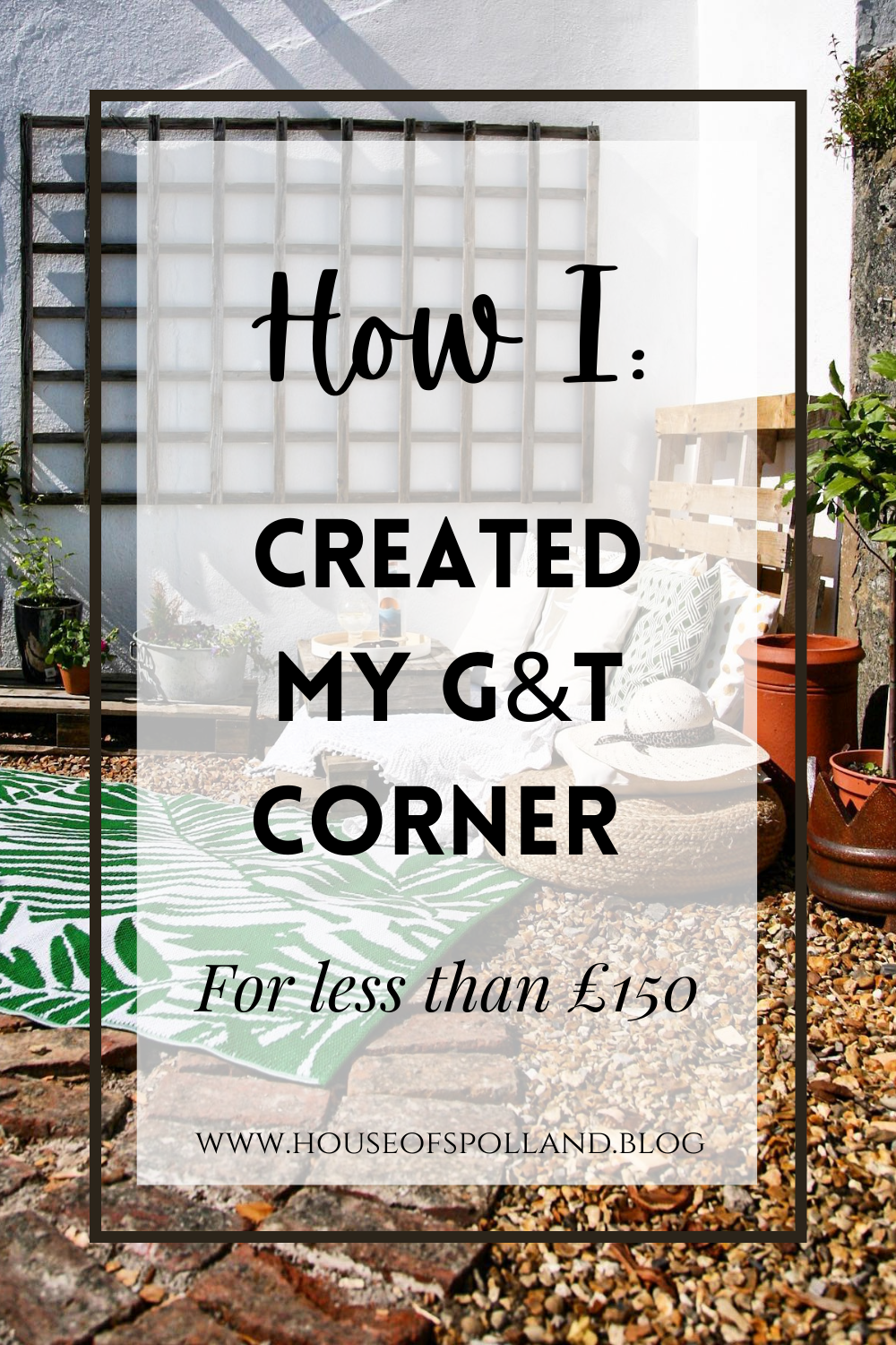 How I Created My G&T Corner (for less than £150)